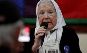Nora Cortiñas: «Esperamos siempre saber qué pasó»