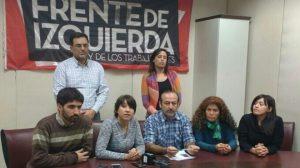 La bancada del FIT en la legislatura respaldó a Patricia Jure