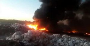 Incendio en Añelo: «Podemos asegurar que no había residuos petroleros»