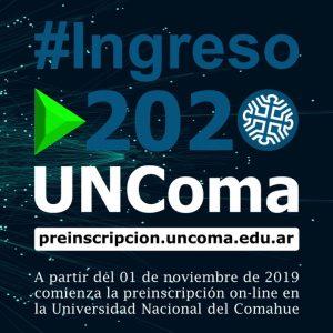 Ingreso 2020 en la UNCo: Siguen abiertas las preinscripciones