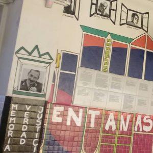 CPEM 64: Colocan la foto de Rafael Videla en un mural por la memoria