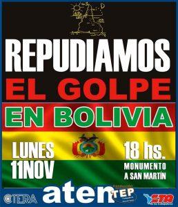 Repudio en Neuquén al golpe de estado en Bolivia