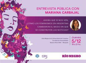 Mariana Carbajal en Neuquén