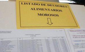 Hay más de 600 inscritos en el Registro Provincial de Deudores Alimentarios