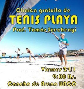 Tenis de playa en la UNCo