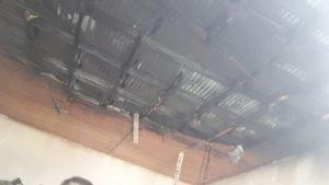 Plottier: Hubo un incendio en el techo de la escuela 106