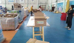 La UNCo y el Banco de Alimentos comenzaron la entrega módulos alimentarios