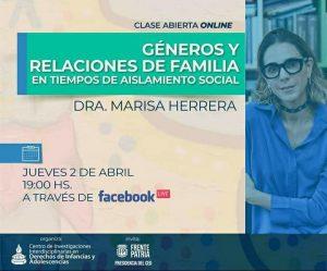 Clase online en la UNCo: Relaciones de familia en la cuarentena