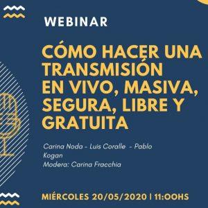 Charla gratuita: Como hacer una transmisión segura por internet
