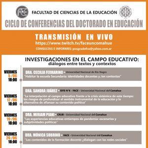 Ciclo de conferencias del Doctorado en Educación