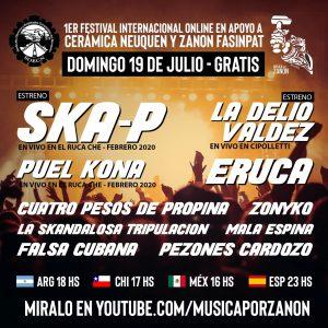 Festival Online en apoyo a Cerámica Neuquén y Zanon
