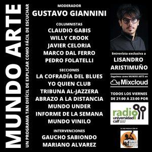 «Mundo Arte» en radio UNCO Calf