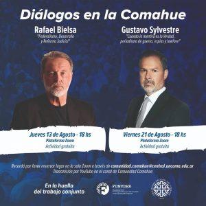 Videoconferencias en la UNCo: En agosto contarán con la presencia de Rafael Bielsa y Gustavo Sylvestre
