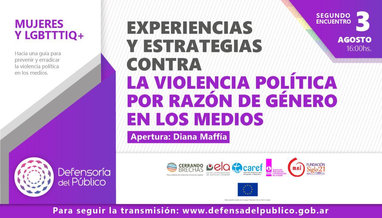 Conferencia  sobre la violencia política por razones de género en los medios