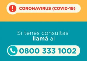El 0800 para consultas sobre Covid-19 recibe 200 llamados por día