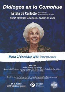 Estela de Carlotto en Diálogos en La Comahue