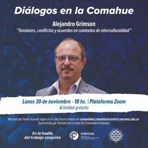 Alejandro Grimson hablará en la UNCo