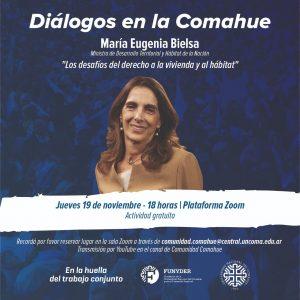 María Eugenia Bielsa en Diálogos en la Comahue