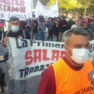 Los autoconvocados de la salud pública cortan la ruta en Añelo