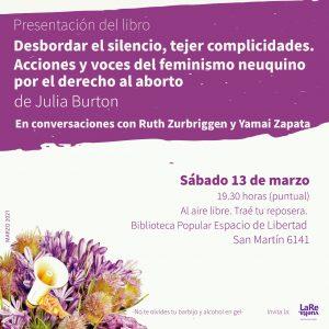 Presentan un libro sobre feminismo y legalización del aborto desde una perspectiva neuquina