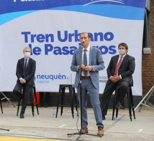 Tren a Plottier: Meoni, Gutiérrez y Gaido participan del viaje de prueba