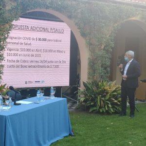 Conflicto en salud: El gobernador dará un bono de 30 mil pesos por decreto