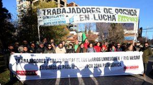 Prensa marcha hoy por salario digno y el pago de zona patagónica