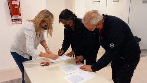 Comunidad Kaxipayiñ, Club Mari Menuco y Provincia firmaron un acuerdo