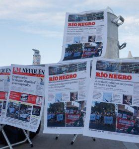 Paro en los diarios locales y movilización de Prensa
