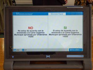 SI a la Enmienda de la Carta Orgánica Municipal